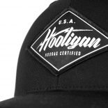 Hooligan Snapback Trucker Hat in Black