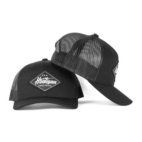 Black and White Hooligan Snapback Trucker Hat - Just 23.99   Hats by Hoorag