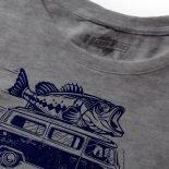 Bass Life Blue on Gray T Shirt