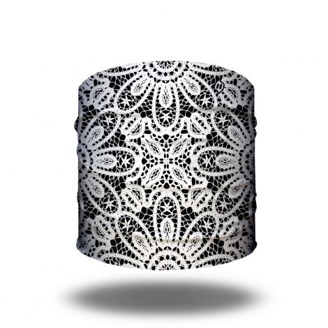 Black and White Lace Yoga and Running Headband