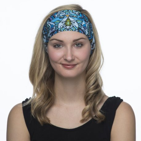 Mandala in Blue Yoga Headband | Bandanas by Hoo-rag, just $15.95