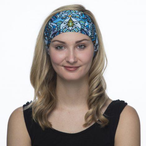 Mandala in Blue Yoga Headband  442552a1d35