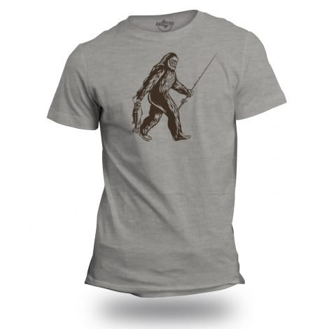 Sasquatch Goes Fishing T-Shirt