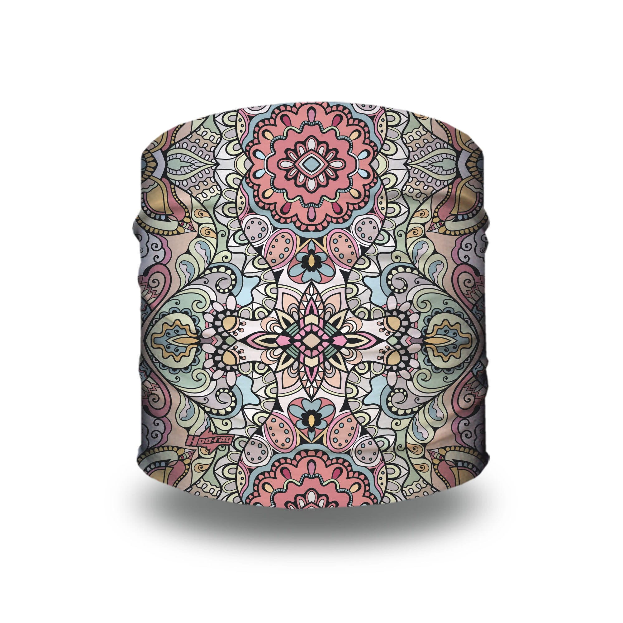 image of a headband in a pastel color pallet with abstract design