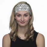 Black White Patterned Headband | Bandanas by Hoo-rag, just $15.95