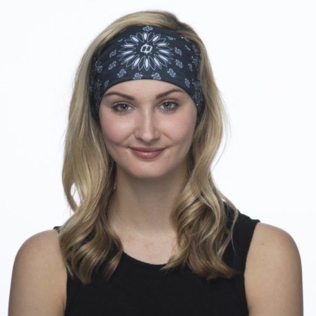 Black Paisley Headband from Hoo-rag. Just 9.95 | Wear it 4+ Ways (Like this Headband!)