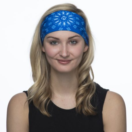 Blue Paisley Headband and Neck Gaiter | Bandanas at Hoo-rag just 15.95