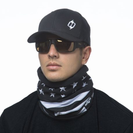 Black and White American Flag Fleece Lined Neck Gaiter Scarf | Wear it 4+ Ways, just $23.99
