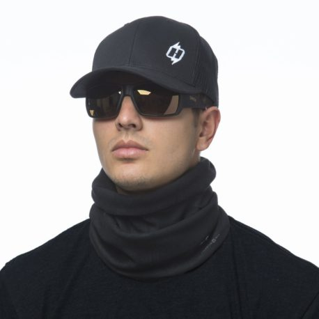 Solid Black Fleece Lined Neck Gaiter Scarf | Wear it 4+ Ways, just $23.99