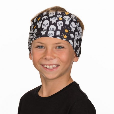 HHK05 skull crown headband kids bandana