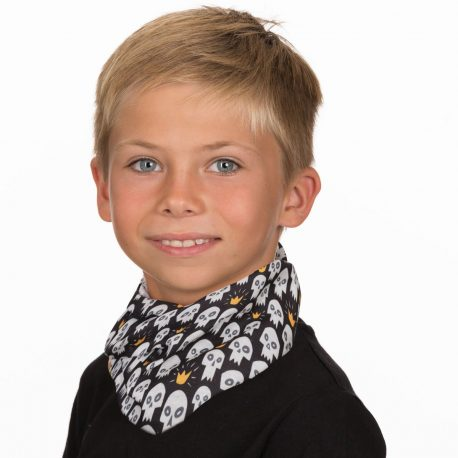 HHK05 skull crown neck gaiter kids bandana
