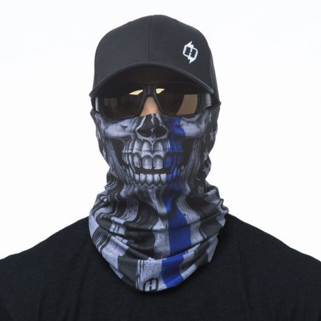 Thin Blue Line American Flag Bandana | Skull Face Masks @ Hoo-rag just $15.95