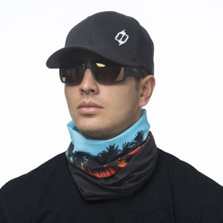 HRF42 surfer beach sunset neck gaiter bandana