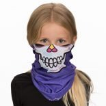 Girls Sugar Skull Face Mask | Children's Bandanas @ Hoo-rag just $12.95