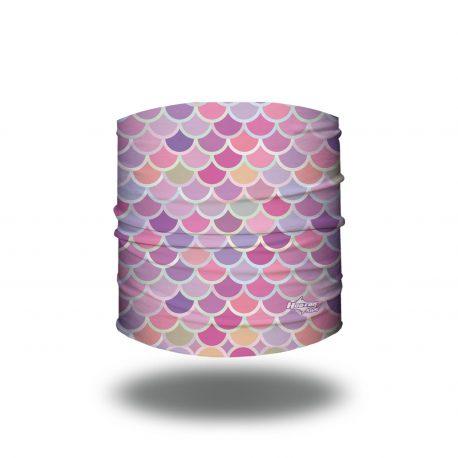 Pink Pastel Colored Mermaid Scales Headband