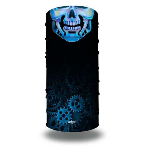Blue Steel Skeleton Face Mask | Bandanas by Hoo-rag, just 15.95