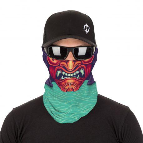 HRB49 Asian Oni Samurai Face Mask