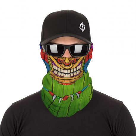 Polynesian Tiki Face Mask | Bandanas by Hoo-rag, just 15.95