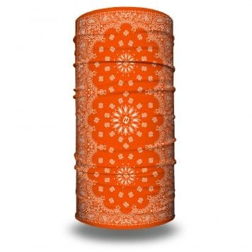 Orange Paisley Bandana by Hoo-rag | Just 15.95