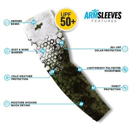 Bass Reel Photo Arm Sleeves | Buy Alone or in a Pair