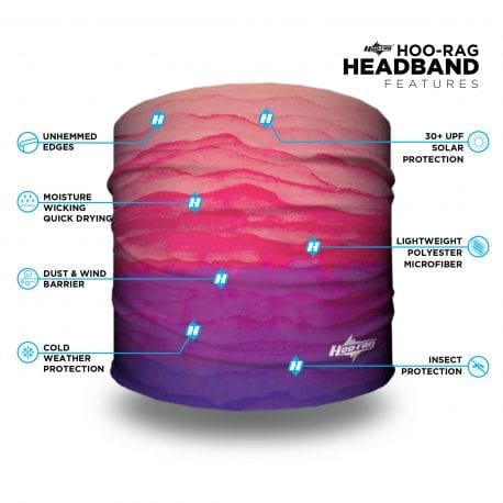 Pink and Purple Gradient Yoga Headband | Bandanas by Hoo-rag, just $9.95