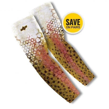 Rainbow Trout Reel Photo Arm Sleeves | Buy Alone or in a Pair