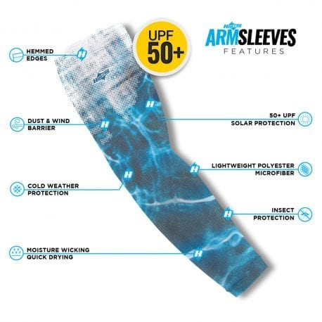 Water Camo Arm Sleeves | Buy Alone or in a Pair