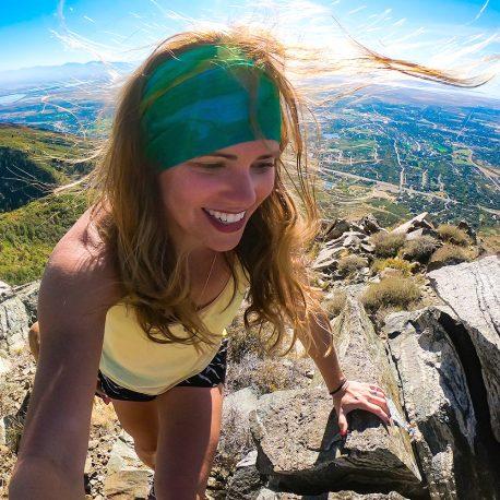 Galax-Sea - Blue-Green Tie Dye Yoga Headband | Bandanas by Hoo-rag, just $9.95