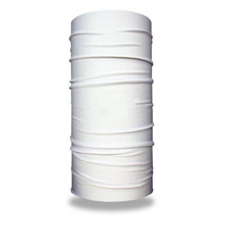 image of a solid white tubular bandana for sublimation