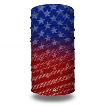 extra large red white and blue american flag bandana