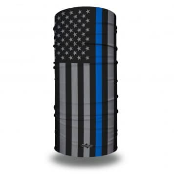 thin blue line american flag face mask bandana