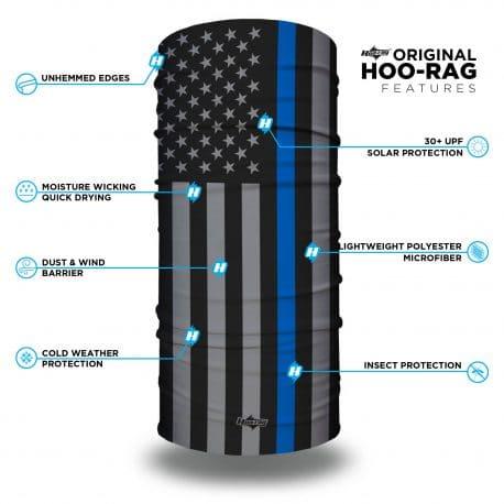 thin blue line american flag face mask bandana