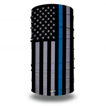 HRXL04 Extra Large Thin Blue Line Flag Bandana by Hoo-rag