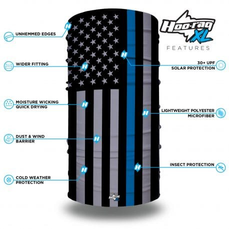 extra large thin blue line american flag bandana features list