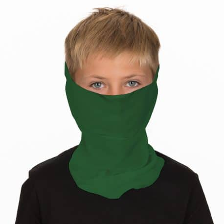 image of a boy in a green face mask
