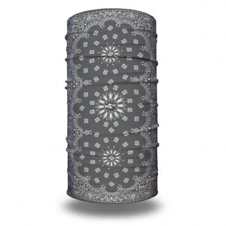 HRXL07 Extra Large Gray Paisley Bandana by Hoo-rag