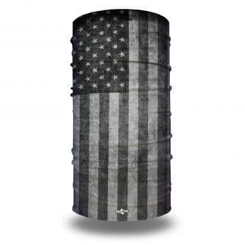extra large grayscale american flag neck gaiter bandana