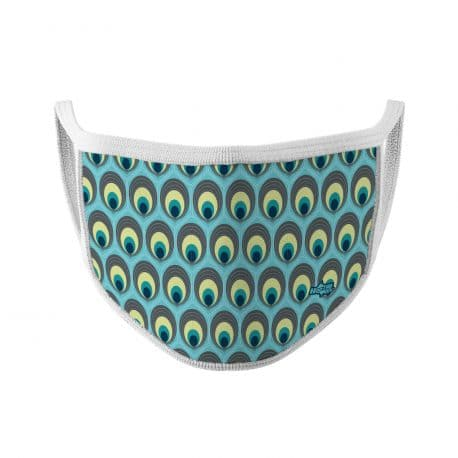 ELKS03 Dazzling Peacock Kids Ear Loop Mask by Hoo-rag
