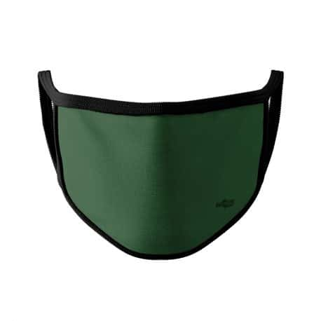 ELKS06 Solid Dark Green Kids Ear Loop Mask by Hoo-rag