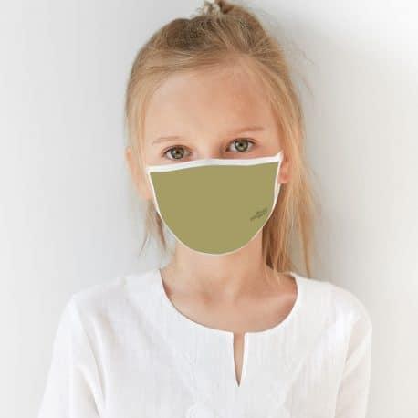 ELKS07 Solid Khaki Kids Ear Loop Mask by Hoo-rag