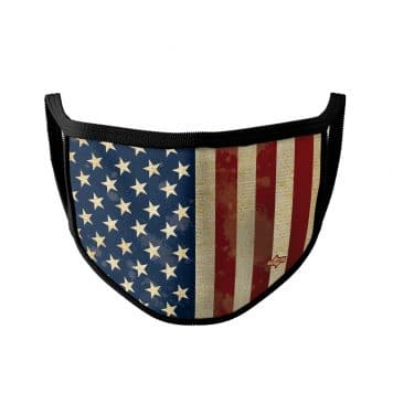 image of an american flag ear loop face mask