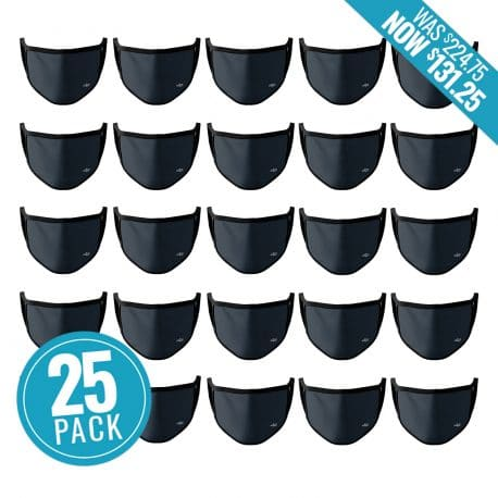 image of 25 ear loop face masks with price tag