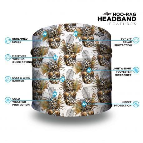 pineapple patterned headband features list