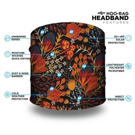 fall floral headband features list