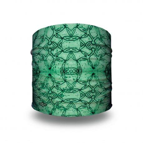 green geometric patterned headband
