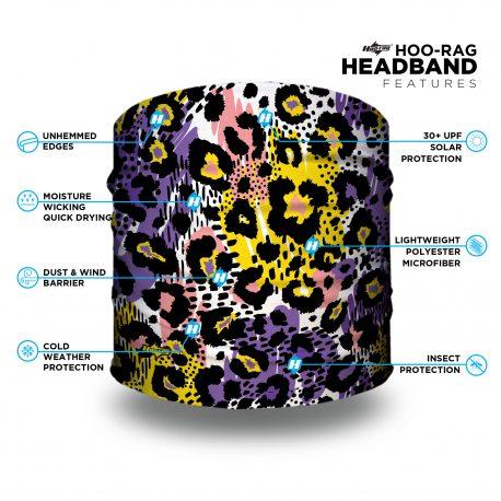 leopard patterned headband features list