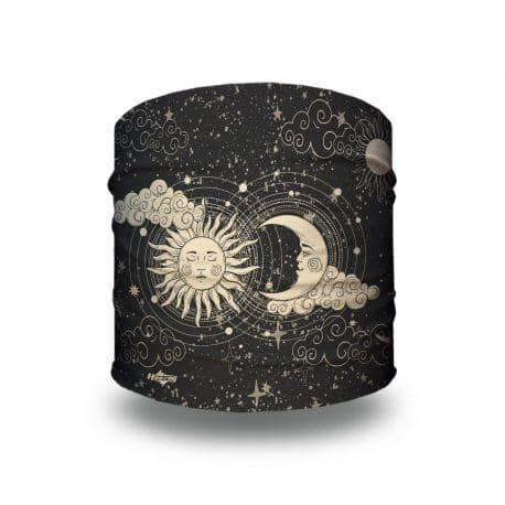 cosmic sun and moon headband