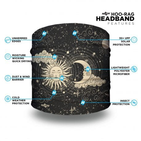 cosmic sun and moon headband features list