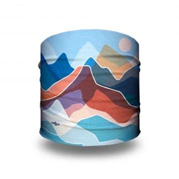 blue and orange mountain headband