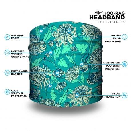 green dandelion flower headband features list